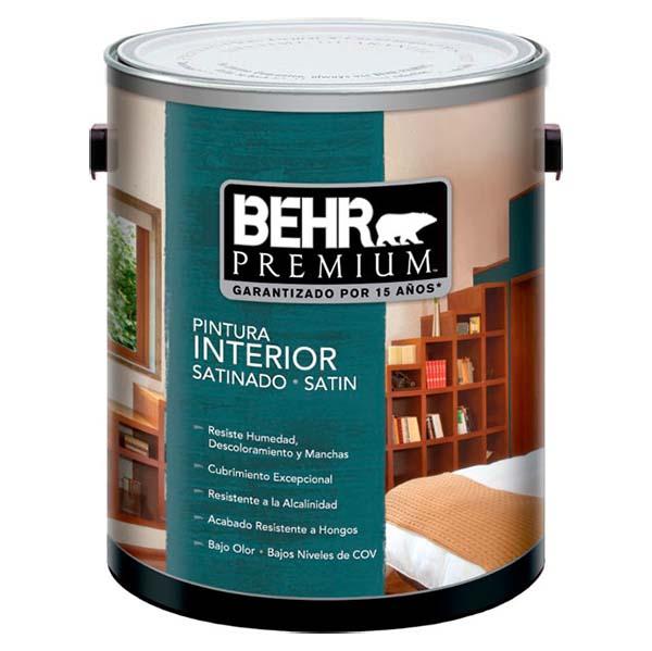 Pintura acrílica Premium a base de agua para interior acabado satinado color bla