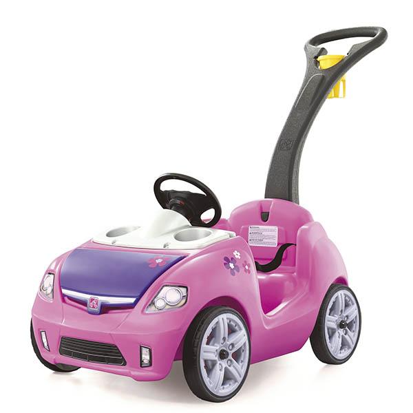 Carrito Whisper Ride II de empujar para niñas color rosado STEP 2