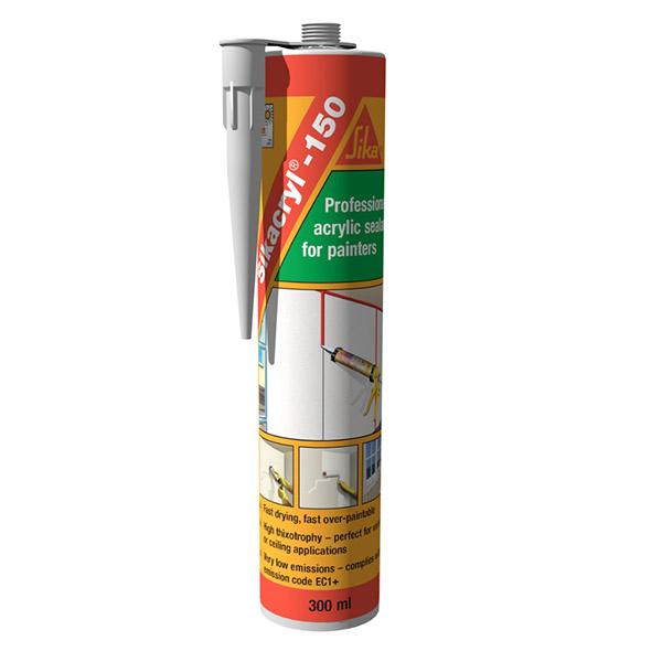 Sellador acrílico Sikacryl 150 de 300ml color blanco SIKA
