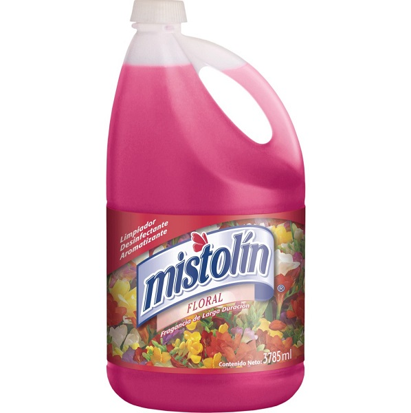 Limpiador floral para todas las superficies elimina las bacterias x1 galón misto
