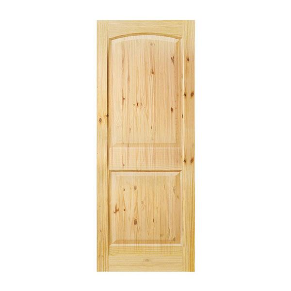 Puerta sólida de 2' x 7' de madera de pino modelo Colonial de 2 paneles para int