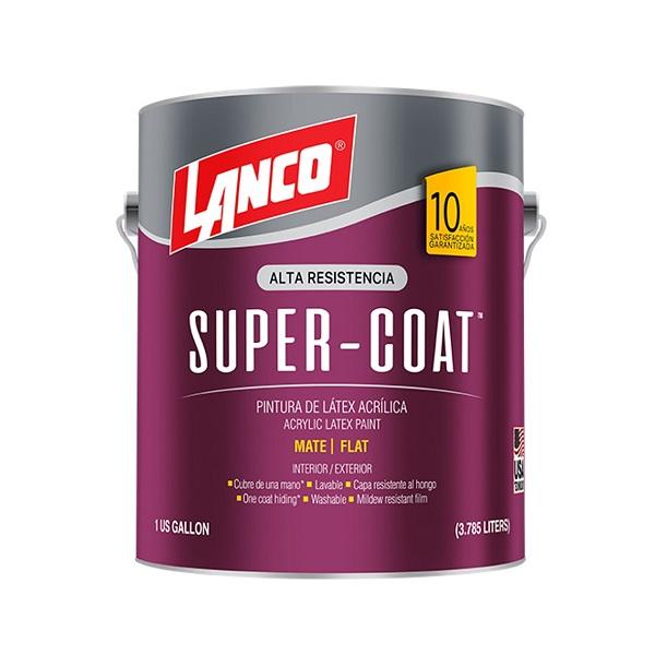 Pintura acrílica Super Coat para interior y exterior acabado mate base deep de 1