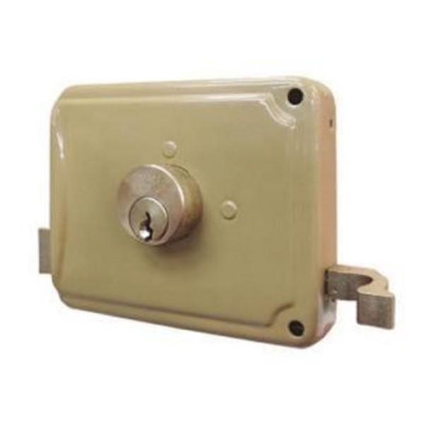 Cerradura metálica de soldar para puerta derecha FACCHINETTI