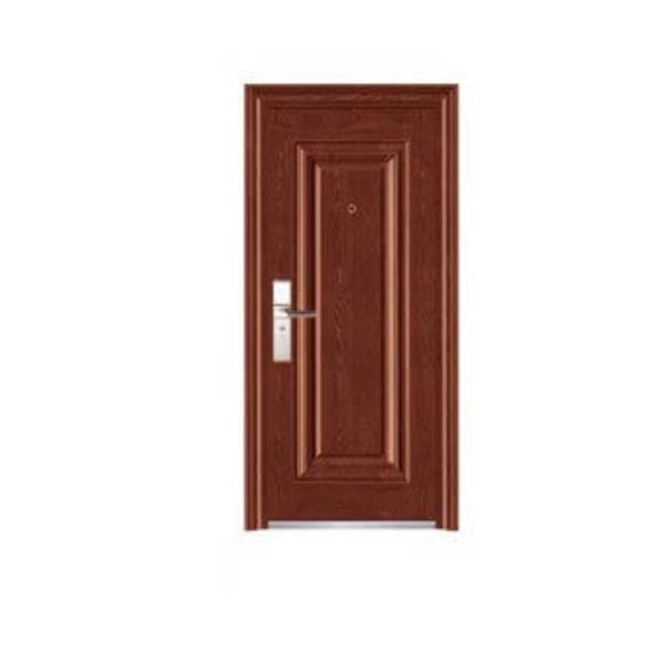 Puerta de metal de 3' x 7' modelo Malva con apertura izquierda  de color wengué