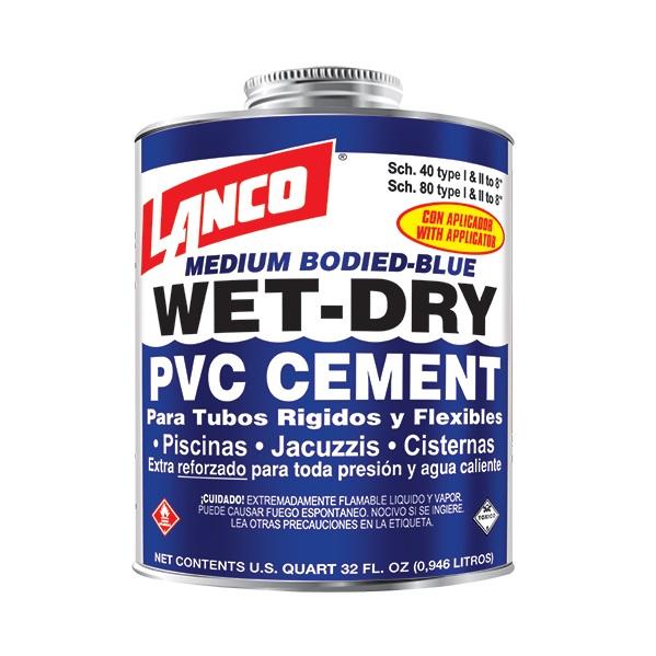 Pegamento para PVC wet & dry de 4oz LANCO