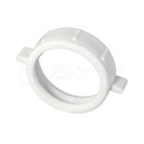 """Tuerca de PVC  de 1-1/2"""" de repuesto para trampa de fregador de color blanco"""