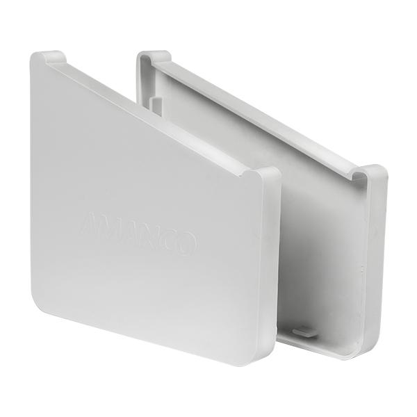 Juego de tapa final de PVC para canal de color blanco