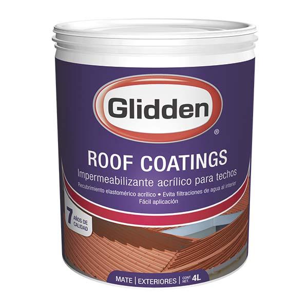 Pintura impermeabilizante Roof Coatings para techos acabado mate color blanco de