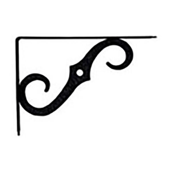 """Brazo decorativo de 10"""" x 7"""" para tablilla color negro NATIONAL"""