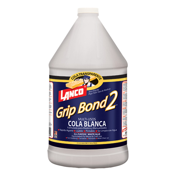 Cola blanca para madera de agarre y secado rápido para exteriores grip bond 2 x