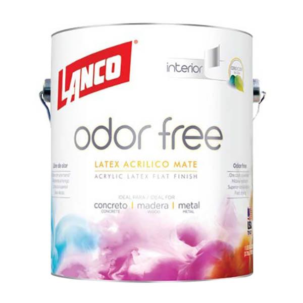 Pintura acrílica Odor Free para interior acabado mate base deep de 1/4gl LANCO