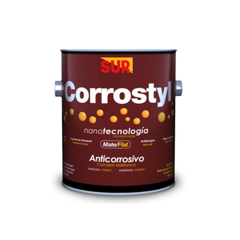 Pintura anticorrosiva Corrostyl para interior y exterior de acabado mate color c