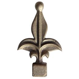 Punta de lanza modelo 260 de hierro color bronce