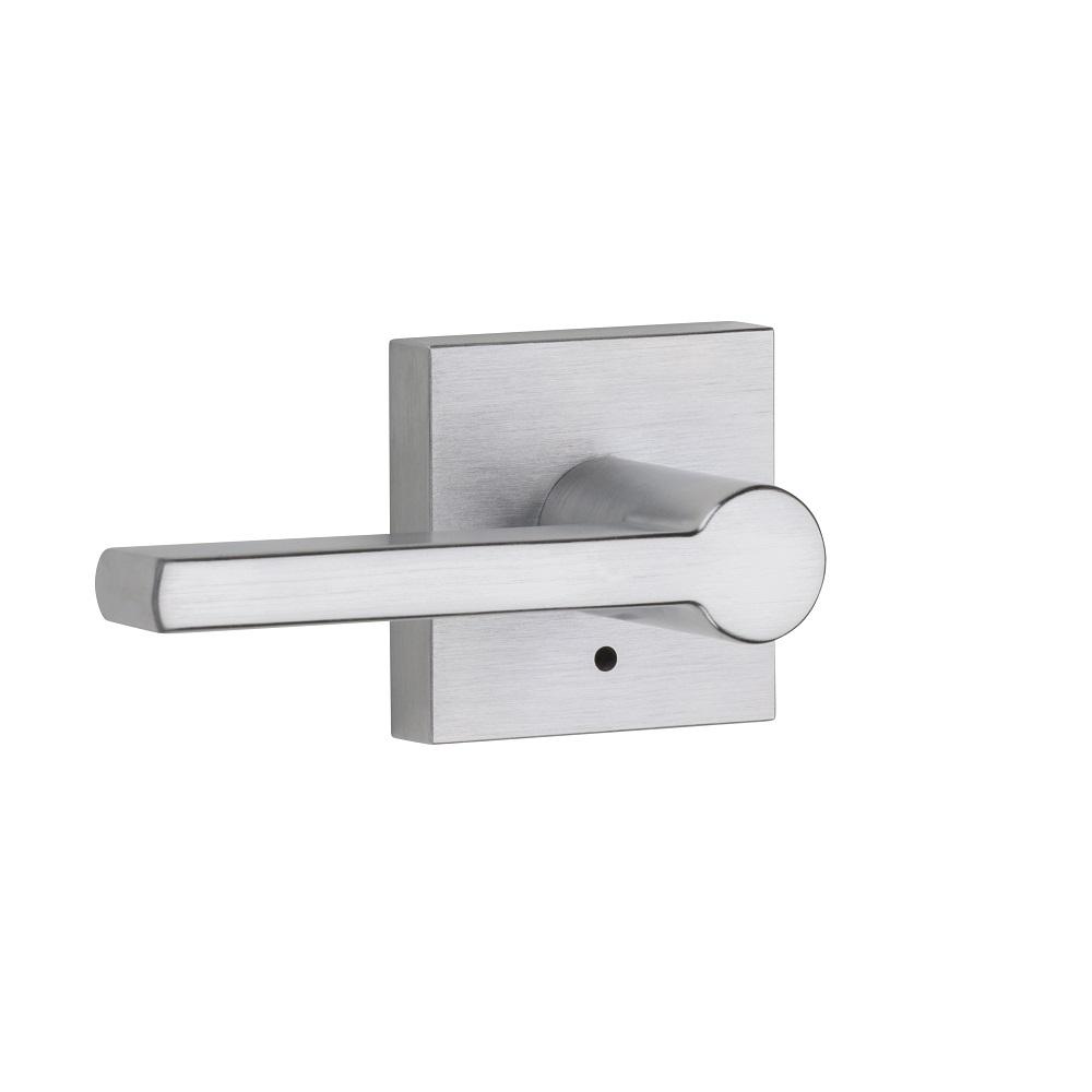 Cerradura para puerta de baño con manija reversible kwikset