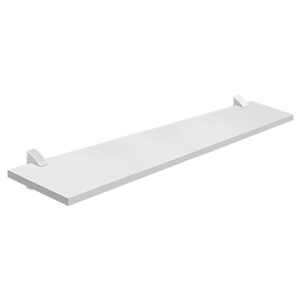 Tablilla recta Concept de 1.5cm x 20cm x 80cm color blanco PRAT K