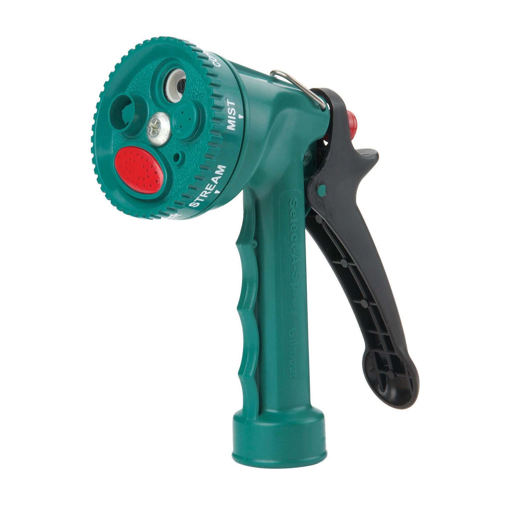 Pistola plástica de 5 posiciones para manguera de jardín color verde GILMOUR