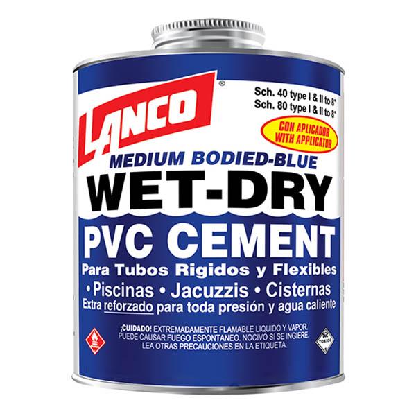 Cemento de pvc con aplicador  de 16 onzas LANCO