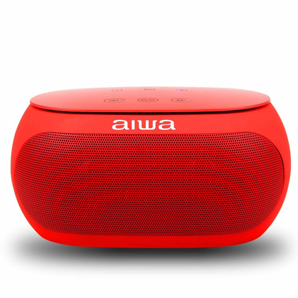 Bocina portátil AW31R con conexión Bluetooth y función de llamada color rojo AIW