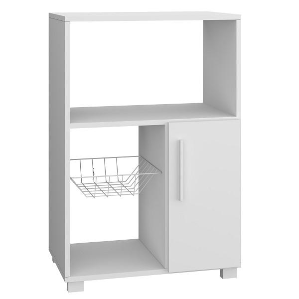 Organizador de melamina de 1 puerta para cocina de color blanco BRV