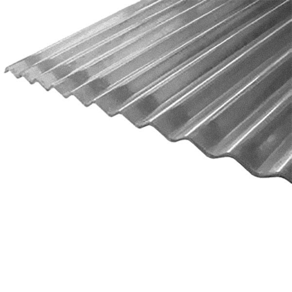 """Lámina de zinc corrugado de 42"""" x 10' calibre 26 acabado galvanizado color gris"""