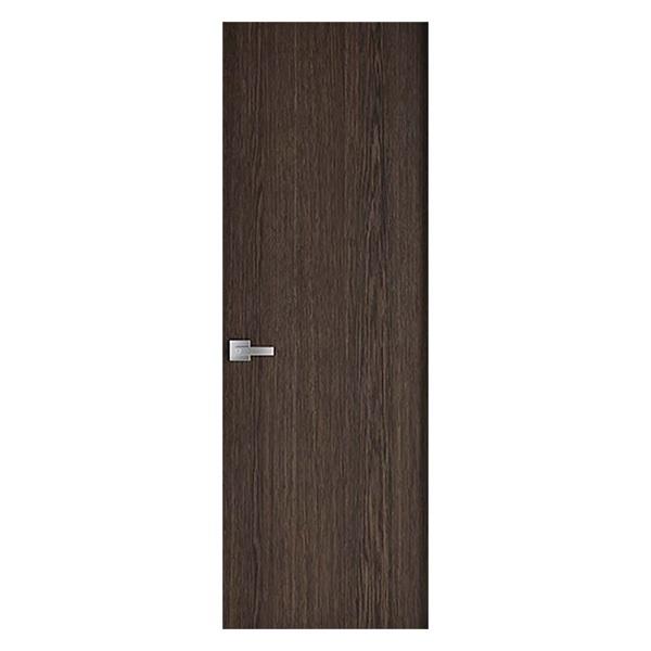 Puerta laminada de 3' x 7' de color chocolate oscuro