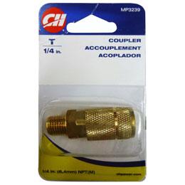 """Acoplador automático macho de 1/4"""" de fácil conexión para evitar la corrosión de"""