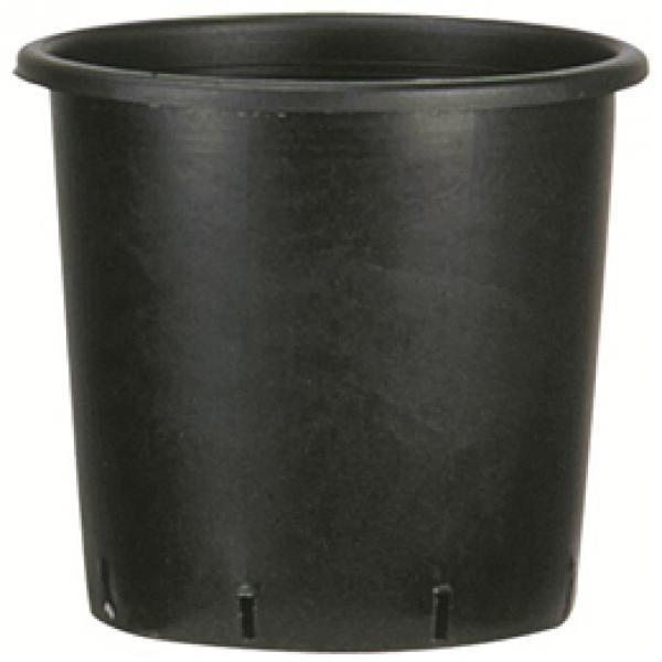 Pote redondo viviero de 24cm x 24cm de color negro