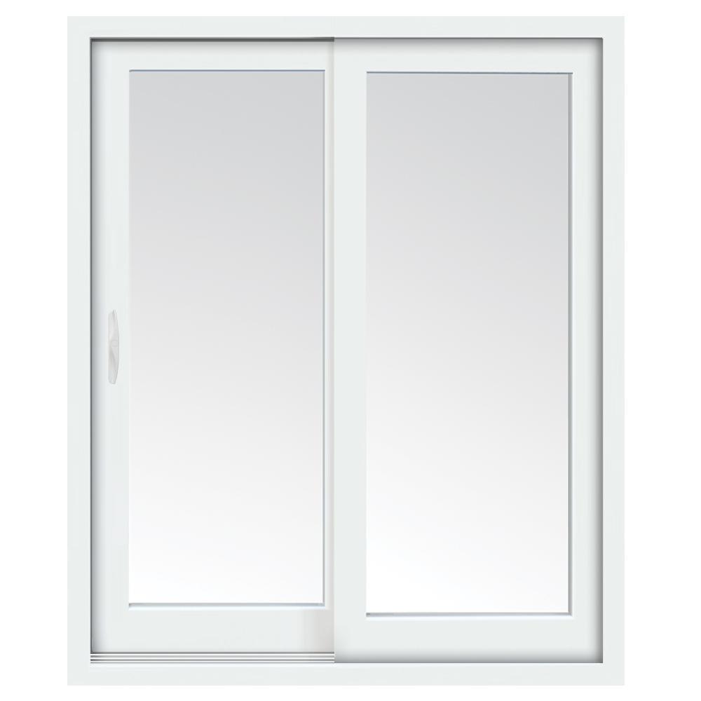 Puerta corrediza de 2.2' x 2.0' de PVC con vidrio