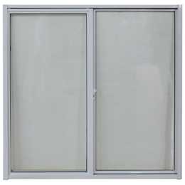 Ventana corrediza de 1.2m x 1.2m de aluminio color blanco