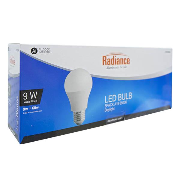 Bombillo LED de 9W y luz blanca de 5 unidades RADIANCE