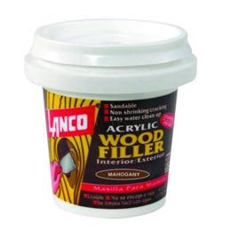 Masilla reparadora a base de agua acrílica para madera color caoba x4 oz lanco