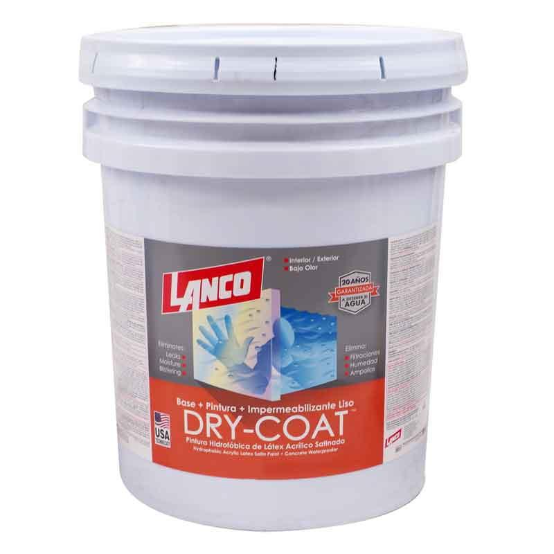 Pintura 3 en 1 Dry Coat satinado base accent 5 galones (18.92 litros) LANCO