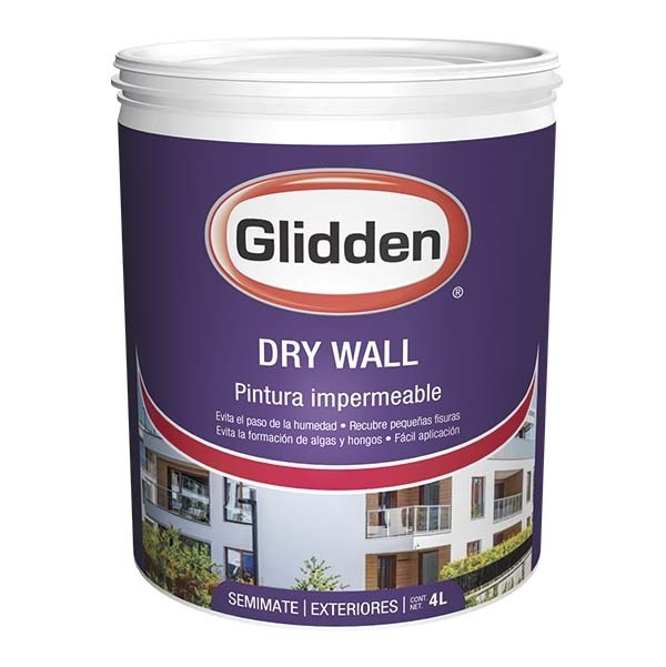 Pintura impermeable elastomérica para superficies verticales semimate exteriores