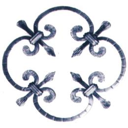 Rosone decorativo de 8mm x 8mm modelo 17/1 de hierro forjado BISON