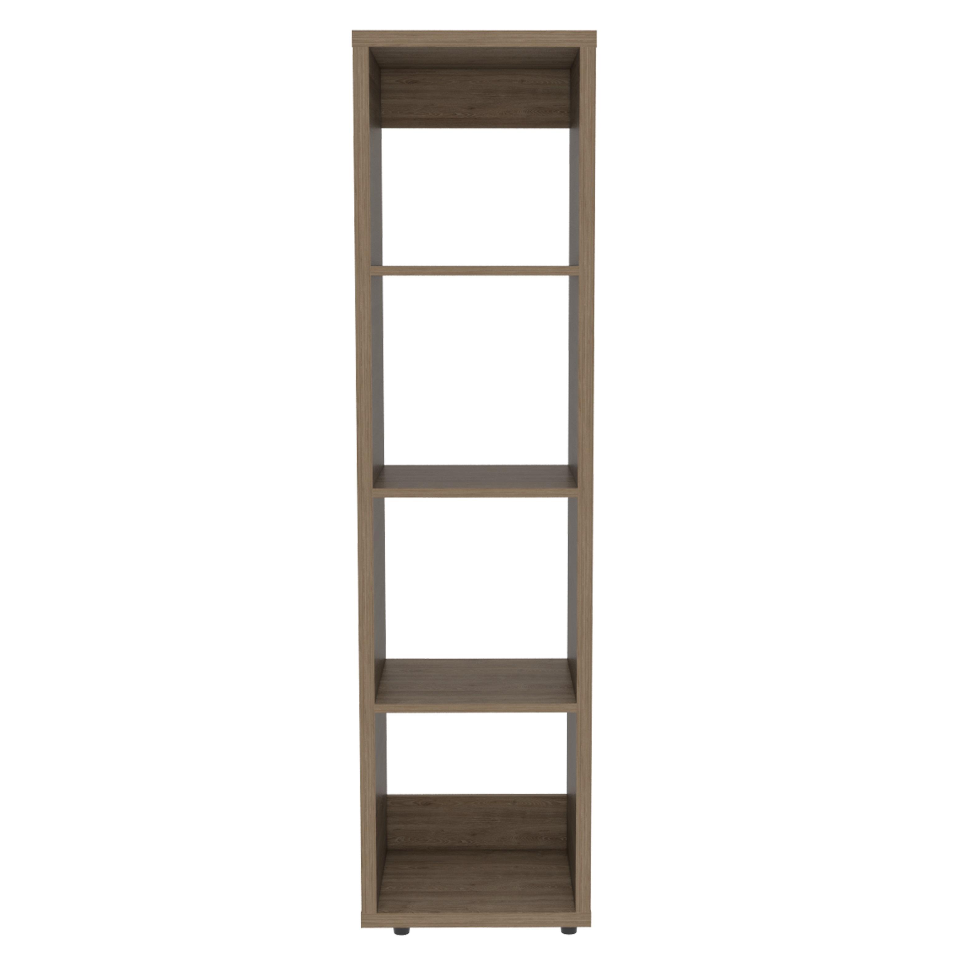 Mueble biblioteca sencilla de 146cm x 37.9cm x 34cm modelo Tanger de color miel