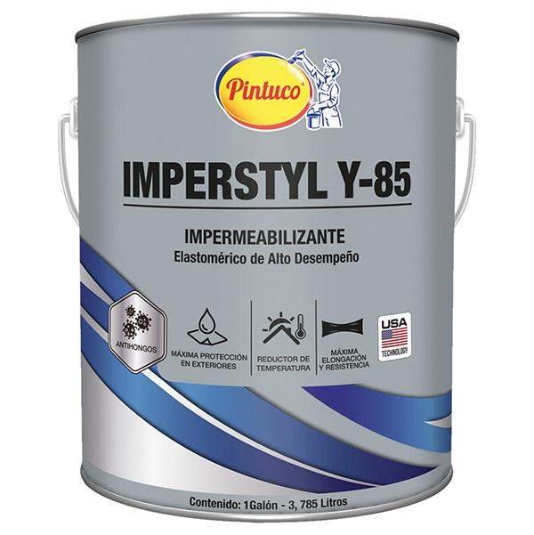 Pintura impermeabilizante Imperstyl Y-85 para losas y techos acabado satinado co