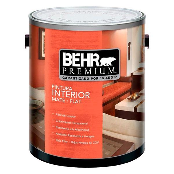 Pintura acrílica Premium a base de agua para interior acabado mate base oscura d