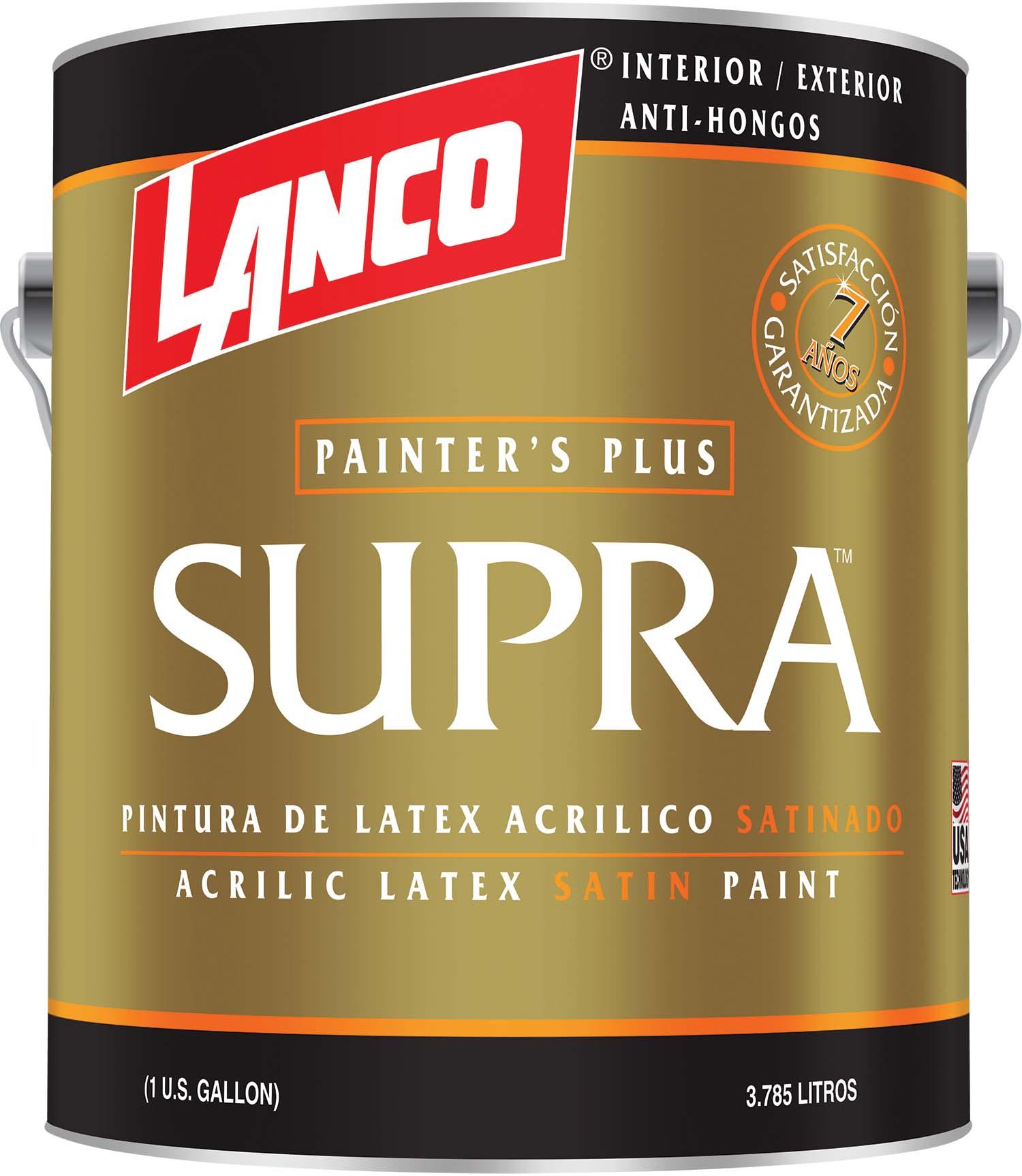 Pintura acrílica Supra Professional para interior y exterior acabado satinado co