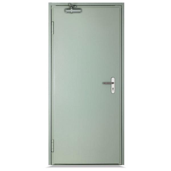 Puerta cortafuego de 3' x 7' de color celeste VISOR
