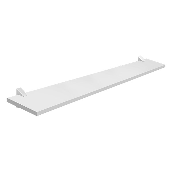 Tablilla recta Concept de 1.5cm x 20cm x 100cm color blanco PRAT K