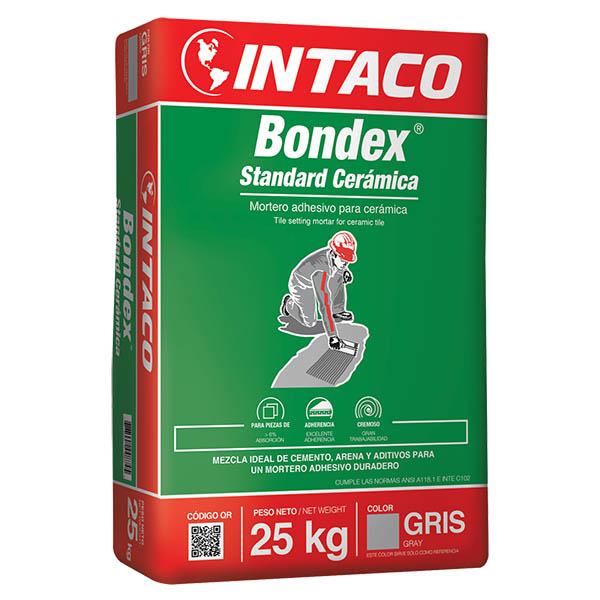 Pegamento Bondex standard cerámica de 25kg mezcla adhesiva duradera de color gri