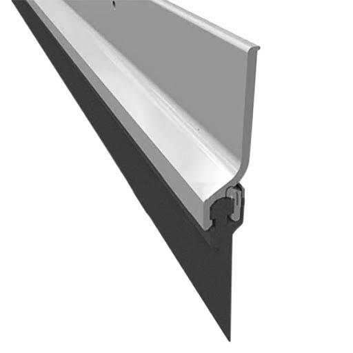 """Burlete de 36"""" de aluminio con inserto de vinil para puerta color plateado PEMKO"""