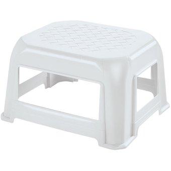 Butaco modelo Pequeño de 36.4cm x 23.7cm x 41.5cm plástico color blanco RIMAX