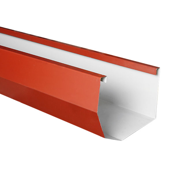 Canal metálico Pazko de 5' calibre 26 color rojo