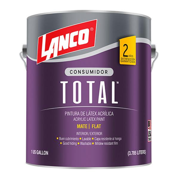 Pintura acrílica Total para interior y exterior acabado mate color blanco hueso
