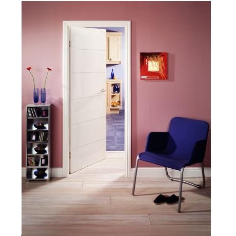 Puerta entamborada de 2´ x 7´ de HDF modelo lucero de 6 paneles para interior co