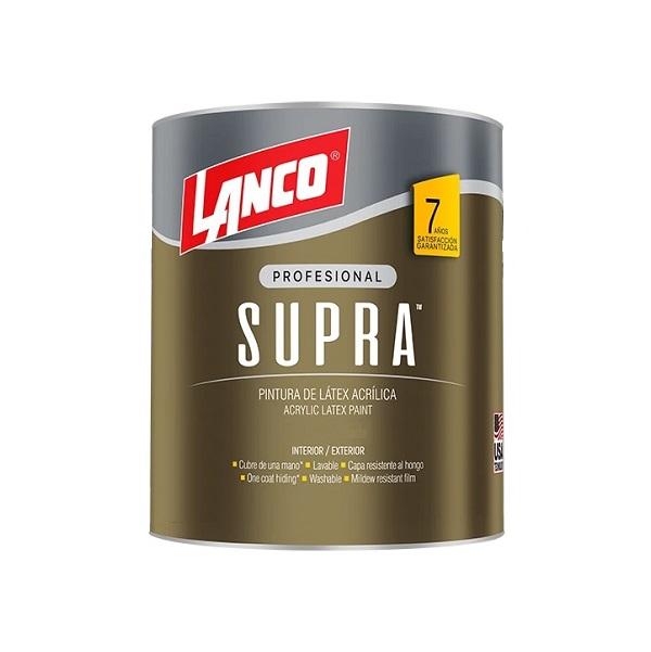 Pintura acrílica supra látex de base pastel color blanco de 1/4gl LANCO