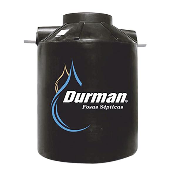 Fosa séptica con capacidad de 1100 litros color negro DURMAN