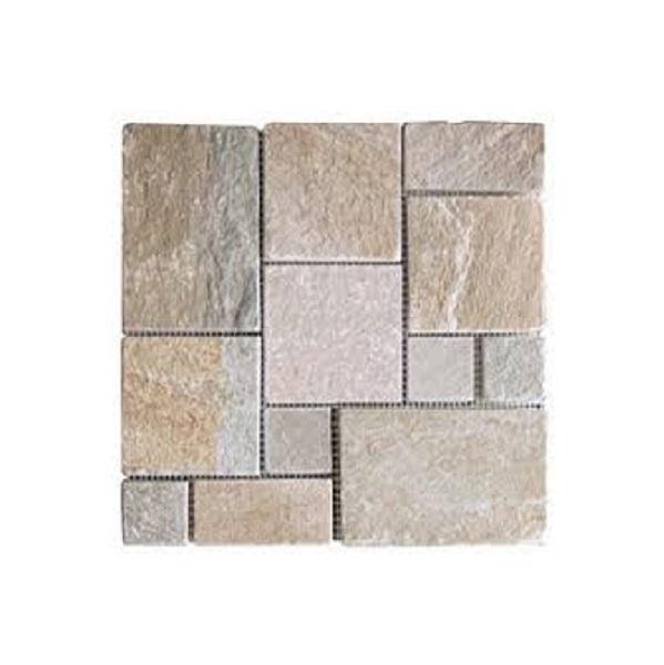 Mosaico de slate claro de 30.5cm x 30.5cm