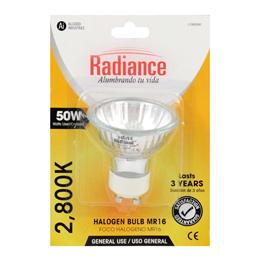 Reflector halógeno 50 watts de color blanco RADIANCE